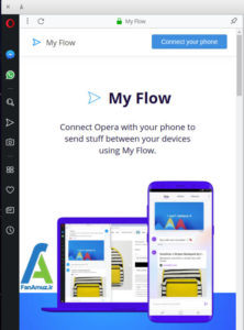 3 استفاده از اپرا Flow برای همگام سازی دسکتاپ و موبایل