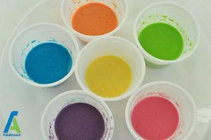 4 طرز تهیه وافل رنگین کمانی