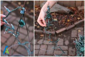 3 ساخت درخت کریسمس تزئینی