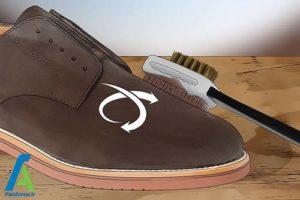 4 رنگ کردن کفش چرم جیر