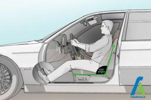 4 تنظیم صحیح صندلی ماشین