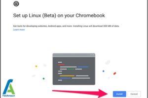 4 استفاده از اپلیکیشن لینوکس در کروم بوک