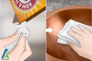 4 تمیز کردن سینک های مسی