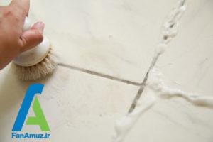 5 پاک کردن دوغاب