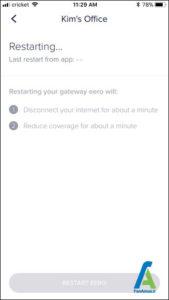 5 راه اندازی مجدد Eero router
