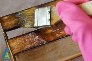 2 پاک کردن لکه چوب