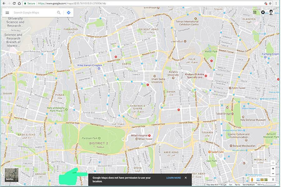 5 موقعیت مکانی در گوگل کروم