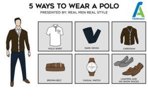 5 ست پولوشرت با انواع لباس و کفش