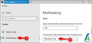 5 تغییرعملکردAlt+Tab ویندوز 10