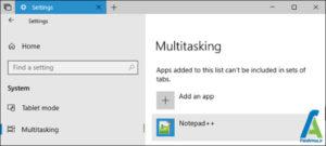 5 حذف تب ها در سربرگ برنامه های ویندوز 10