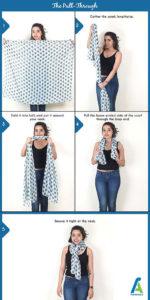 4 آموزش بستن دستمال گردنی