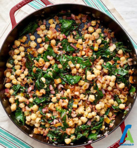 5 خوراک سبزیجات با جوجه کباب