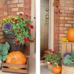 5 طراحی و تزئین ورودی منزل به سبک پاییزی