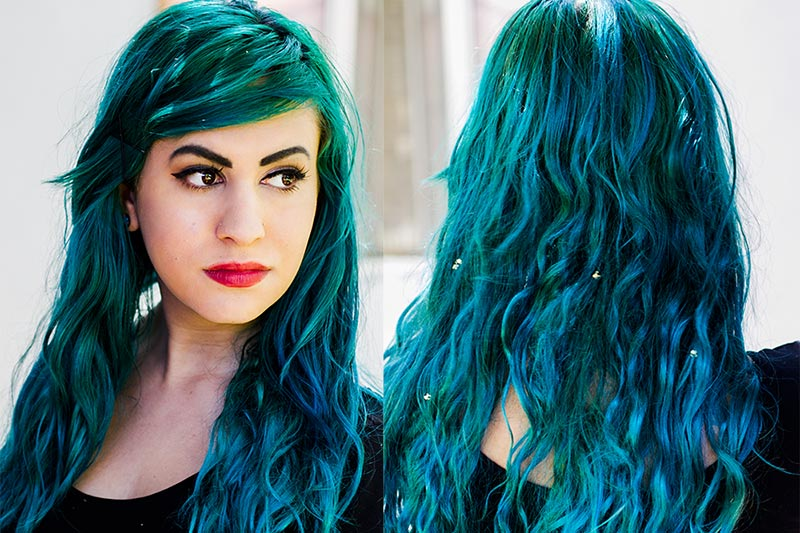 5 پاک کردن رنگ موی فانتزی بدون دکلره