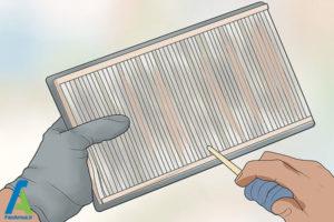 5 تمیز کردن یا تعویض فیلتر هوا