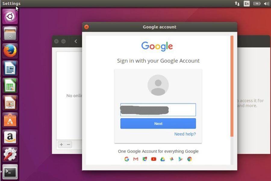 6 اتصال به اکانت گوگل در Ubuntu 18.04