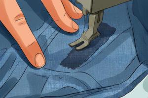 5 رفو کردن لباس در منزل