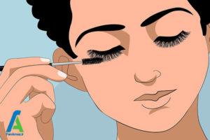 5 تمیز کردن اکستنشن مژه مصنوعی