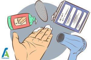 6 پاک کردن چسب سیلیکونی از روی دست
