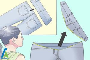 4 تبدیل شلوار معمولی به شلوار بارداری