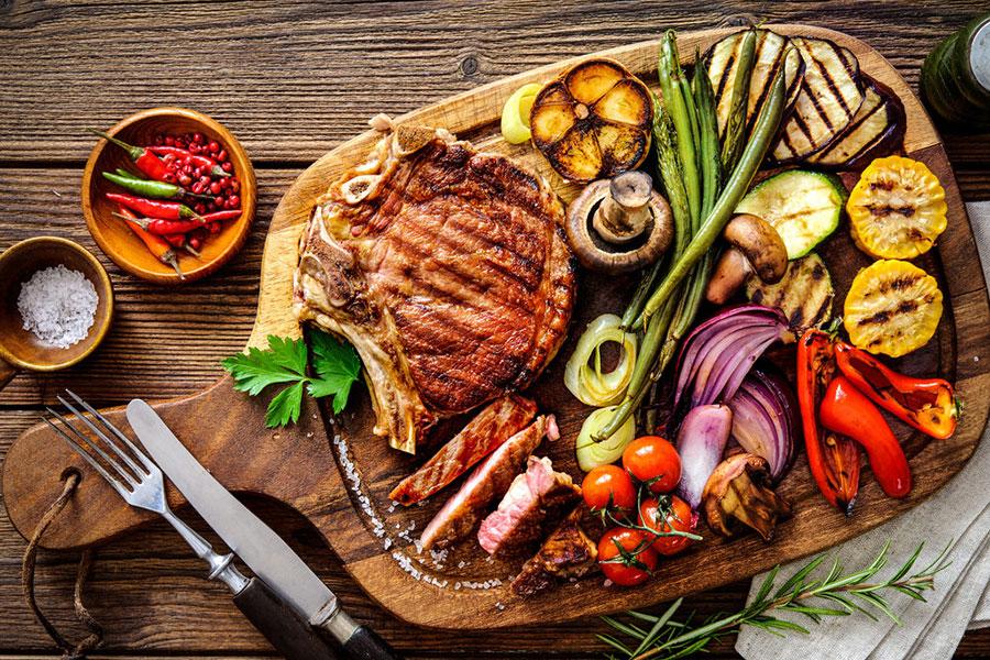 6 انواع کنار غذای استیک یا کباب گوشت
