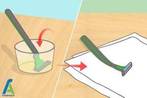 6 ضدعفونی و تمیز کردن ژیلت برای استفاده مجدد