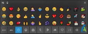 7 باز کردن emoji picker ویندوز 10