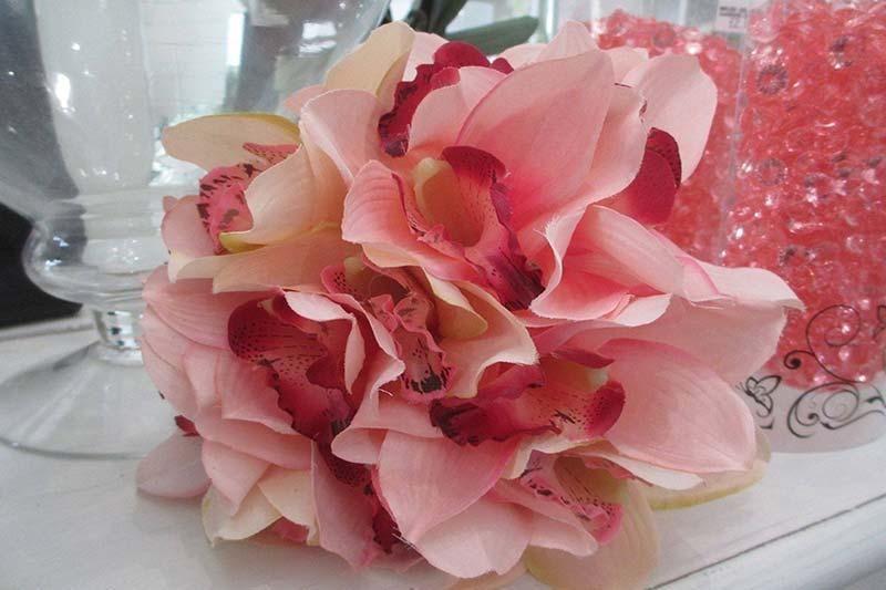 7 رنگ کردن گل ابریشمی