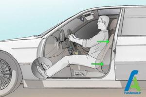 7 تنظیم صحیح صندلی ماشین