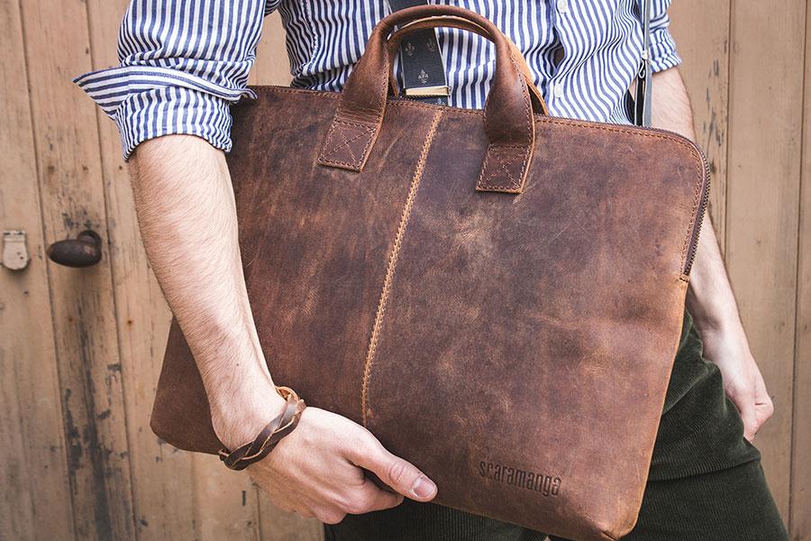 7 اصول انتخاب کیف چرم مردانه
