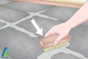 5 تمیز کردن بند رنگی کاشی و سرامیک