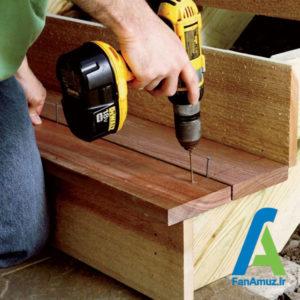 8 ساخت پله چوبی در سه مرحله
