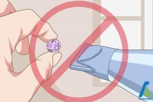 5 مراقبت و تمیز کردن یاقوت ارغوانی