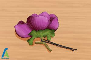8 شینیون مو با گل طبیعی