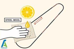 5 تمیز کردن زنگ زدگی زنجیر دوچرخه