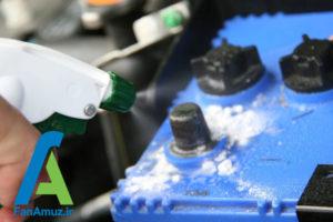 8 پاک کردن رسوبات سر باتری خودرو