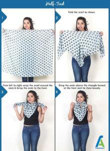8 آموزش بستن دستمال گردنی