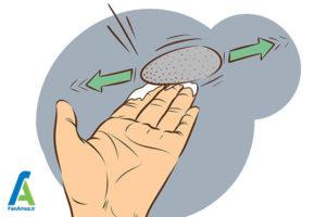 9 پاک کردن چسب سیلیکونی از روی دست