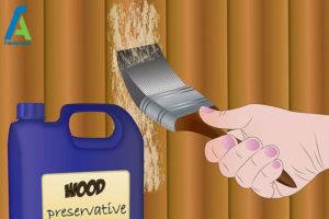 6 از بین بردن قارچ و کپک حصار چوبی