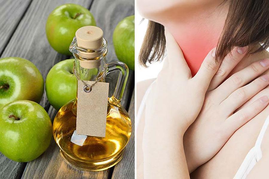 8 درمان گلو درد با سرکه سیب