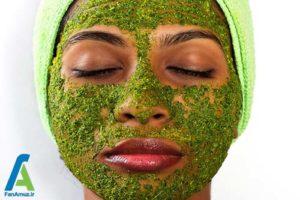 7 ساخت ماسک صورت با برگ درخت چریش