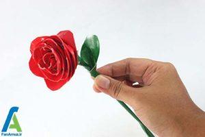 9 طرز ساخت گل رز با نوار چسب رنگی