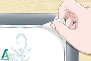 9 چسباندن استنسیل به شیشه