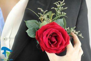 1 نحوه وصل کردن گل سینه داماد