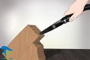 2 طرز تمیز کردن استند چاقو