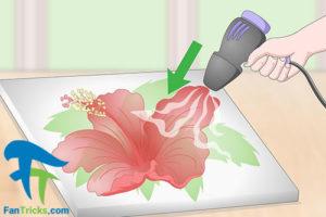 4 خشک کردن نقاشی رنگ روغن روی بوم