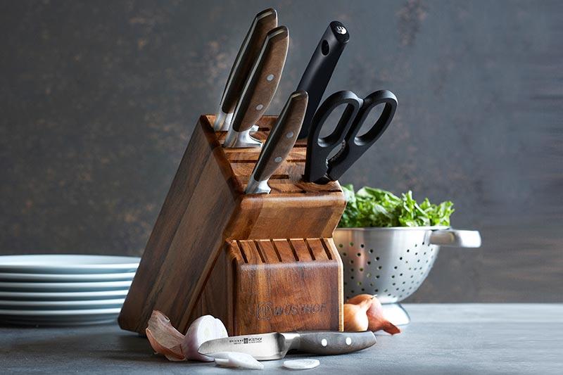5 طرز تمیز کردن استند چاقو