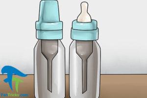 6 کاهش هوای موجود در شیشه شیر