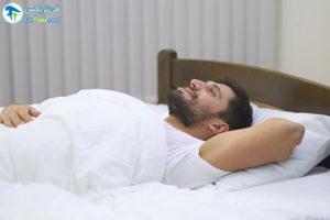 1 اصول صحیح خوابیدن به پشت