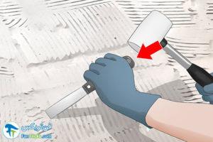 1 روش کندن و جدا کردن چسب کاشی